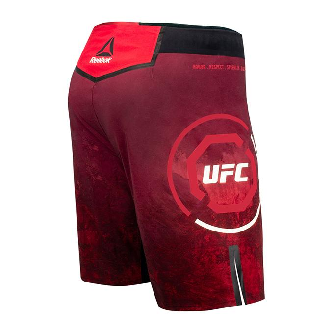 Men's Reebok Authentic UFC Octagon Trunk Short Long-Maroon
