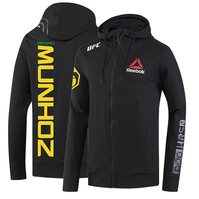 Men's Reebok Pedro Munhoz Black UFC Fight Night Walkout Hoodie Replica