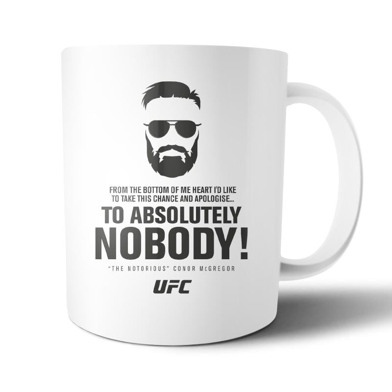 UFC Conor McGregor Apologise to Nobody Mug White