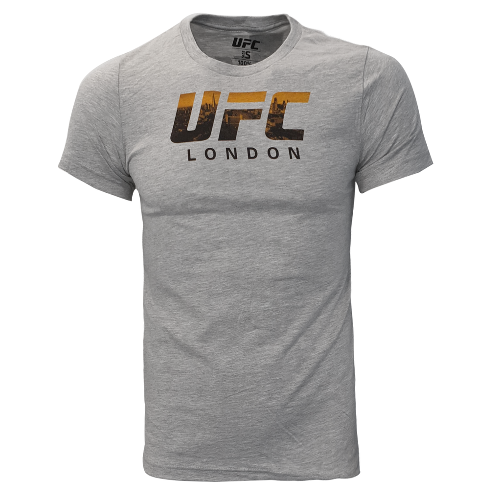 Men's UFC London Skyline City logo Tee - Grey