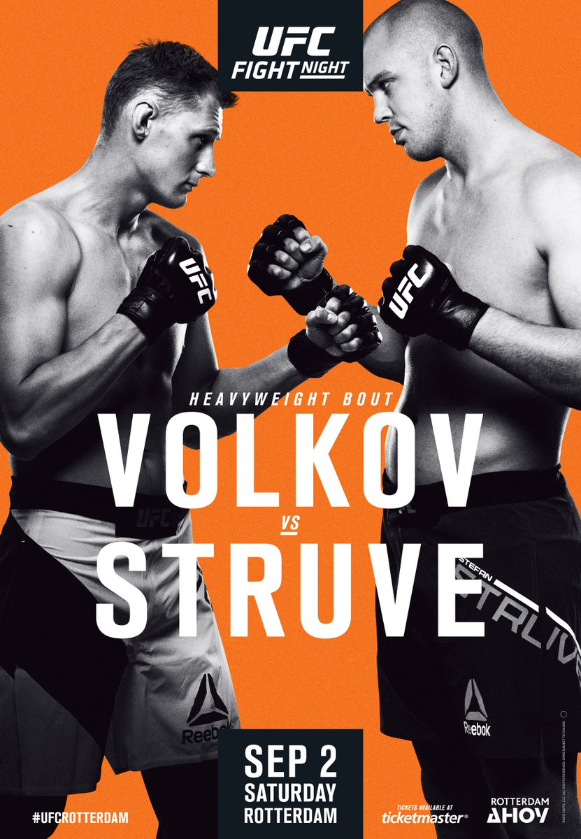 "UFC Fight Night 115 Volkov vs. Struve Rotterdam Autograph Event Posters 27"" x 39"""