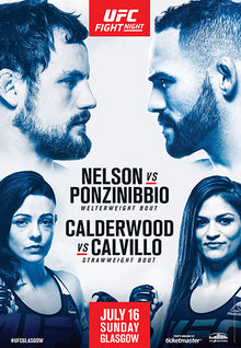 "UFC Fight Night 113 Nelson vs. Ponzinibbio Glasgow Autograph Event Posters 27"" x 39"""