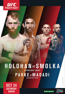"UFC Fight Night 76 Holohan vs. Smolka Autograph Event Posters 27"" x 39"""