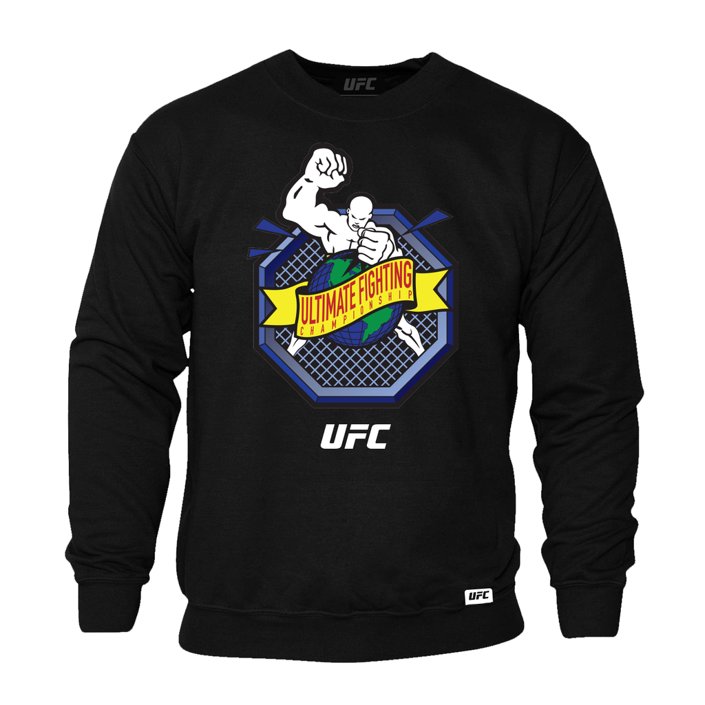"UFC ""Ulti-Man"" Octagon Ultimate Fighting Championship Sweatshirt- Black"