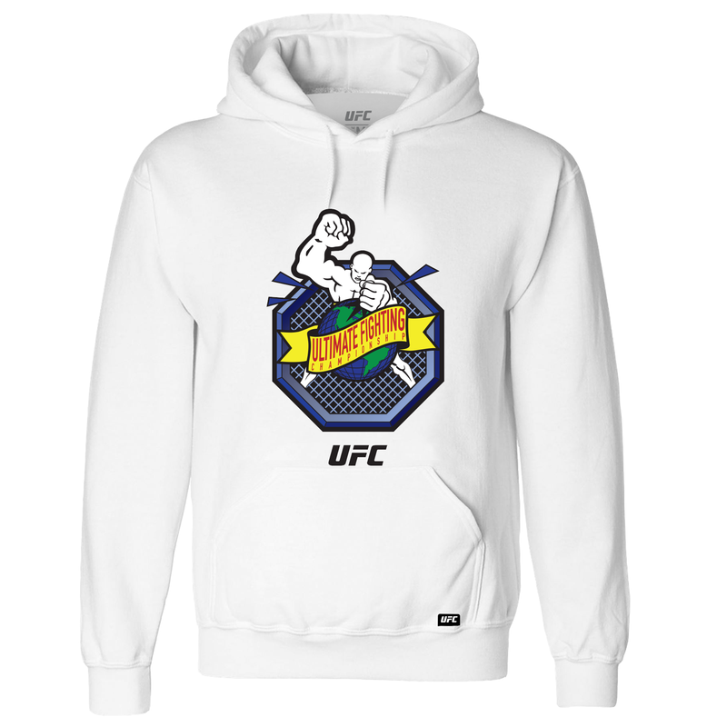 "UFC ""Ulti-Man"" Octagon Ultimate Fighting Championship Hoodie- White"