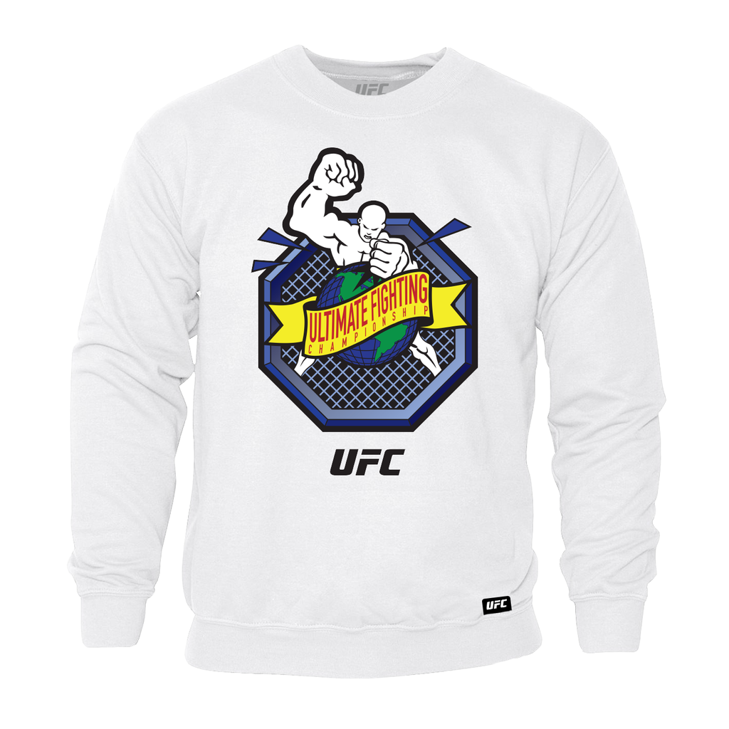 "UFC ""Ulti-Man"" Octagon Ultimate Fighting Championship Sweatshirt- White"