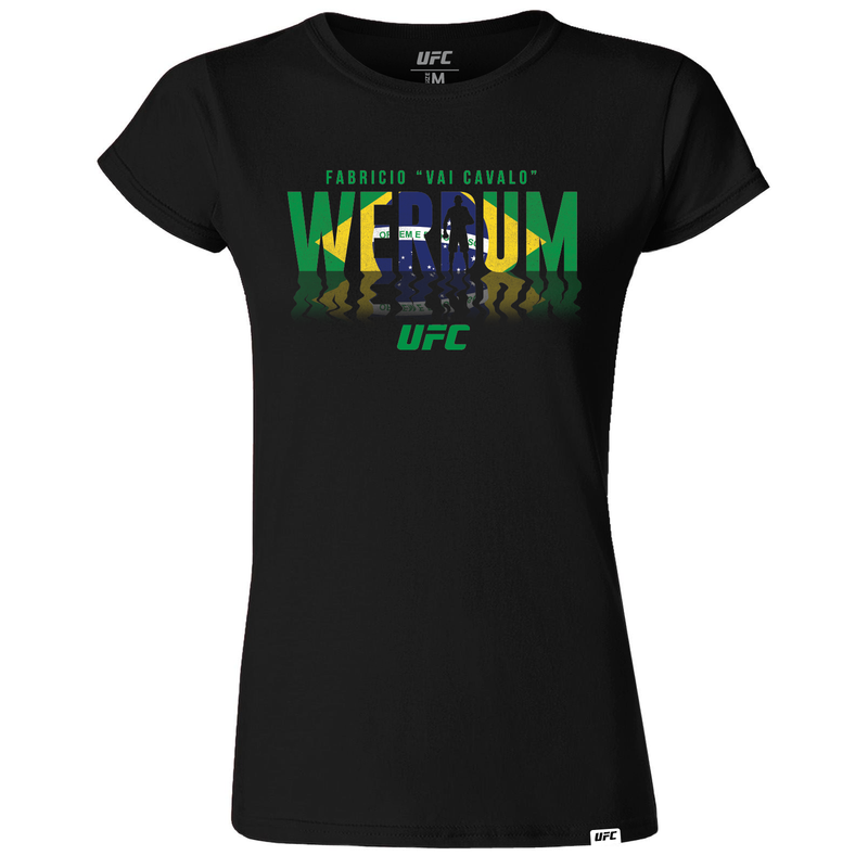 "Fabricio ""Vai Cavalo"" Werdum Champion Shadow T-Shirt Womens Black"