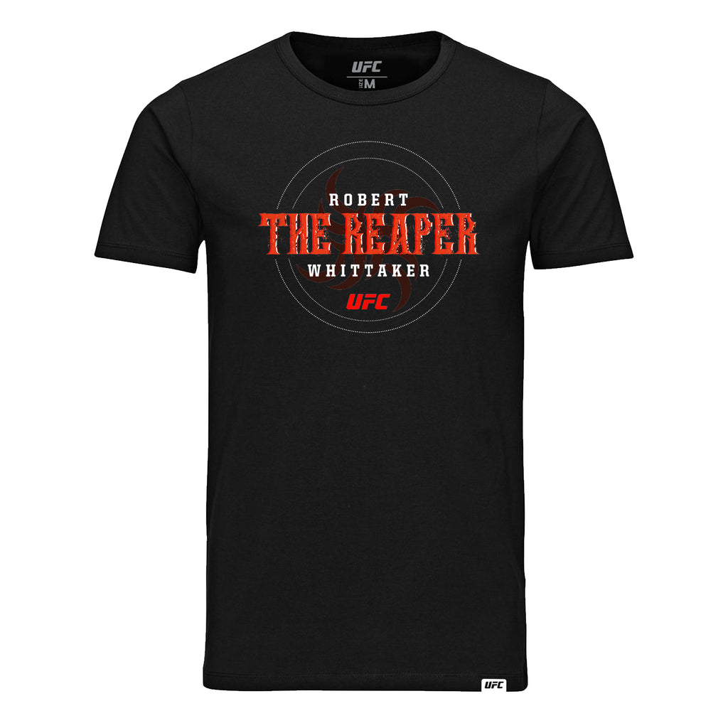 "UFC Robert ""The Reaper"" Whittaker Graphic T-Shirt-Black"