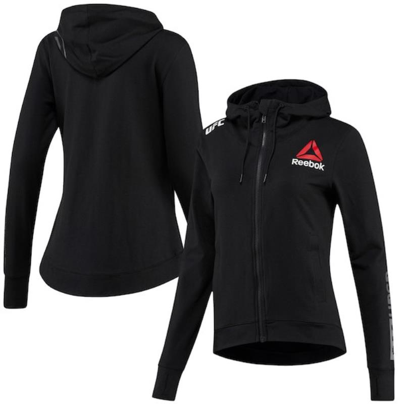Personalised Women's Reebok Black UFC Fight Night Hoodie