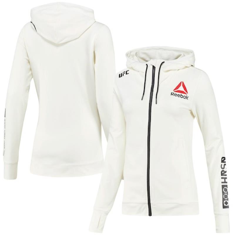 Women's Reebok White UFC Fight Night Hoodie