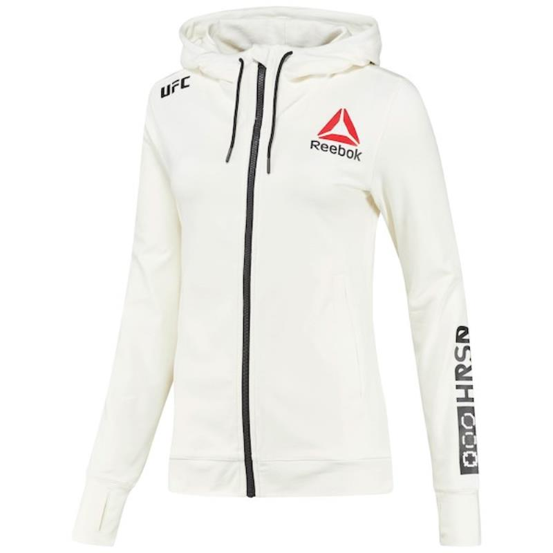 Personalised Women's Reebok White UFC Fight Night Hoodie