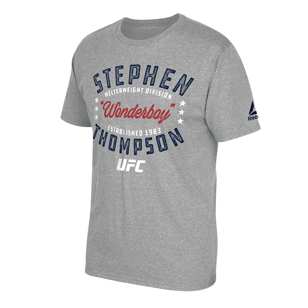 "Men's Reebok Stephen ""Wonderboy"" Thompson Graphic T-Shirt -Heather Grey"
