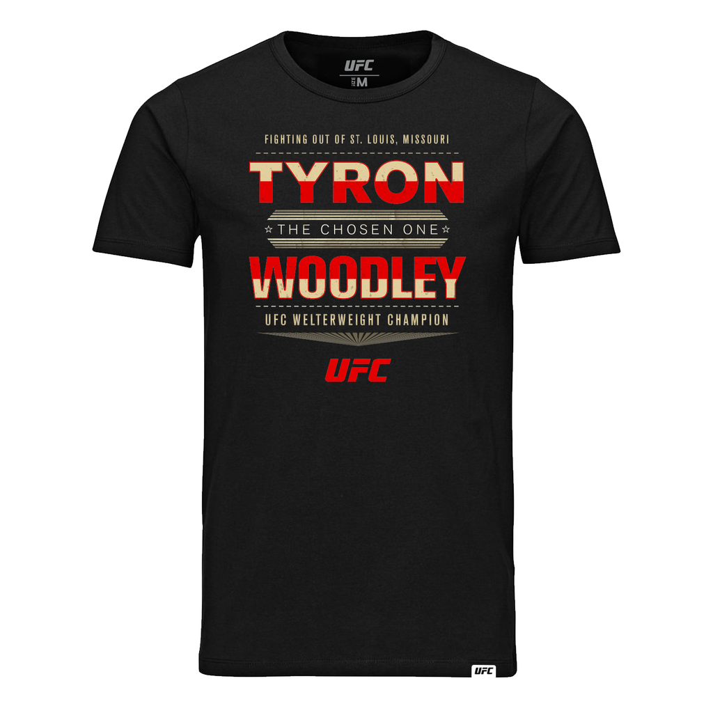 "UFC Tyron ""The Chosen One"" Woodley Graphic T-Shirt- Black"
