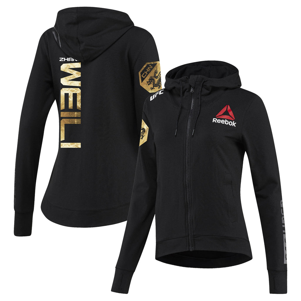 Womens Reebok Weili Zhang Champion UFC Fight Night Walkout Hoodie Replica