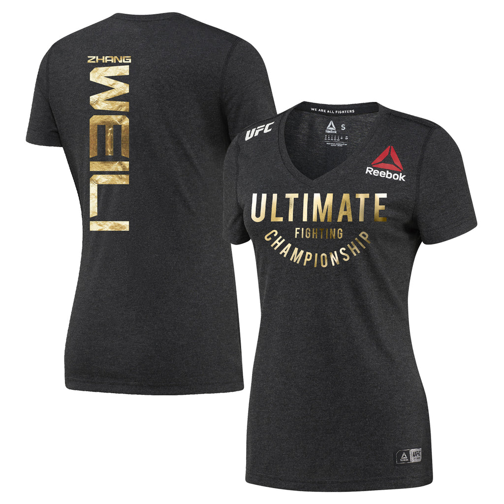 Womens Weili Zhang Reebok Champion UFC Fight Night Walkout Jersey