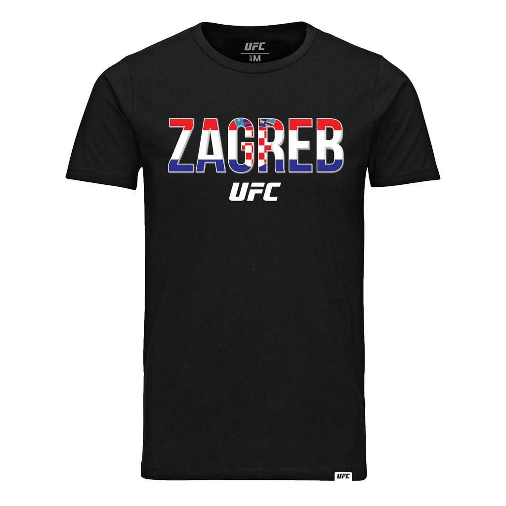 UFC Croatia Country T-Shirt-Black