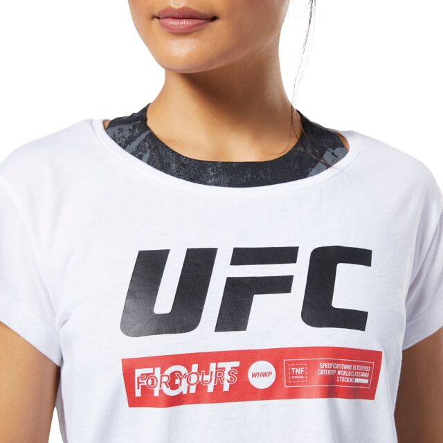 UFC Reebok Fan Gear Fight Week Womens Tee - White