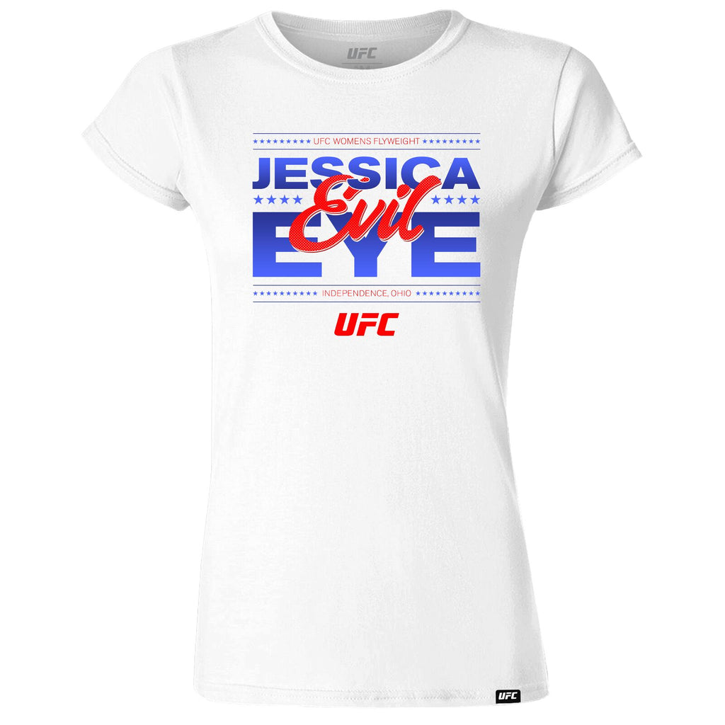 "Women's UFC Jessica ""Evil"" Eye Graphic T-Shirt - White"
