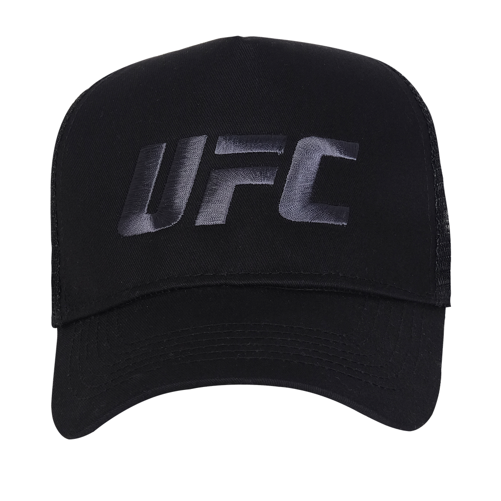 UFC Embroidered Trucker Cap Large Logo Black
