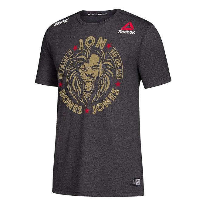 Men's Reebok Jon Jones Black Authentic UFC 247 Legacy Series Walkout Jersey
