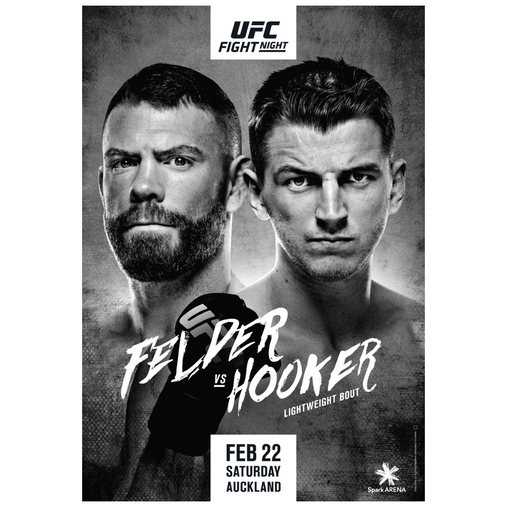 UFC Fight Night Auckland Autographed Event Poster