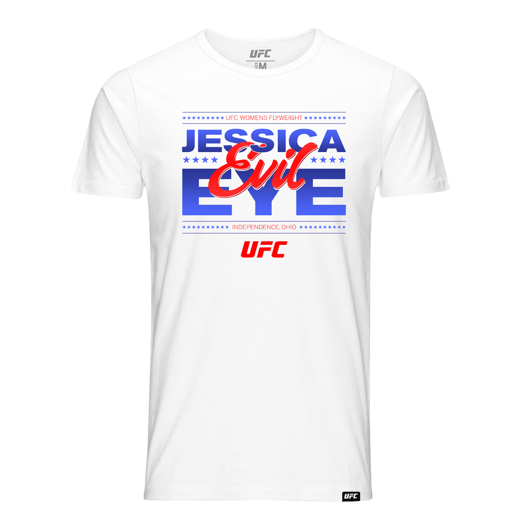 "Men's UFC Jessica ""Evil"" Eye Graphic T-Shirt - White"