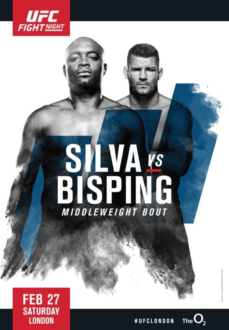 "UFC Fight Night 84 Silva vs. Bisping  London Autograph Event Posters 27"" x 39"""