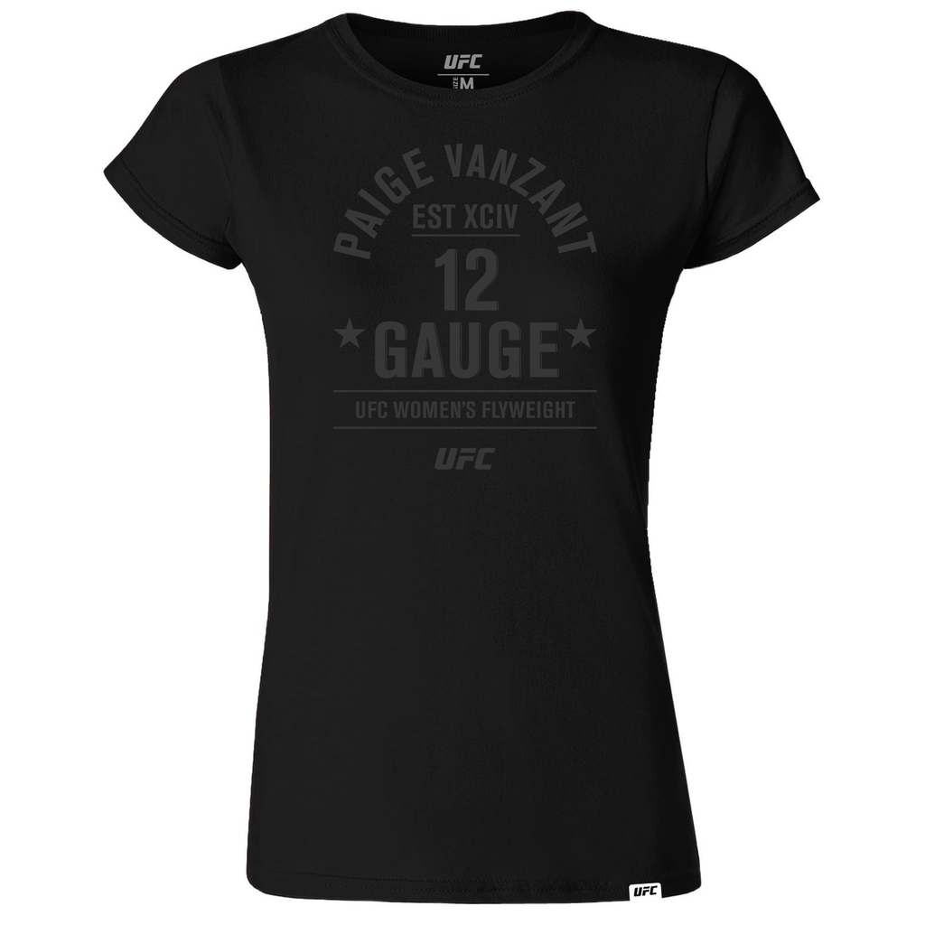 "UFC Paige ""12 Gauge"" VanZant  Old School Women's T-Shirt - Black"