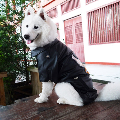 Large big dog Pet Luxury pu Leather Jacket Coats for dog