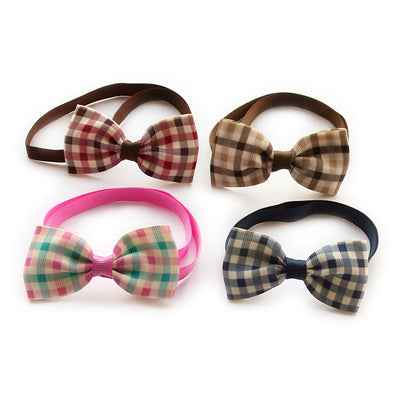 Armi store Handmade Classic Plaid Ribbon Dog. 50 piece