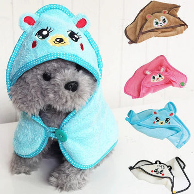Cute Embroidered Animal Design Pet Warm Bear Print Dog Puppy