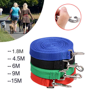 Dog Nylon Training Harness Leash  Dog Long Adjustable Lead