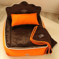 Luxury Princess Pet Bed With Pillow Blanket Dog Bed Mat Sofa Dog House Nest Sleep