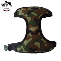 Camo Mesh Vest Harness For Dogs Adjustable Breathable