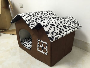 Fashion Pet Dog House Warm  Folding Dog Kennel  for Puppy