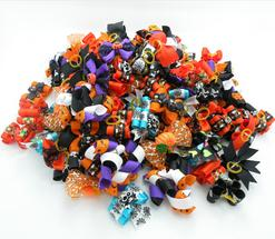 Halloween Dog Bows Holiday Dog Hair Bows Handmade Dog Accessories Pet Supplies