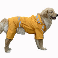 Large Dog Raincoat Clothes Waterproof Rain Jacket Jumpsuit