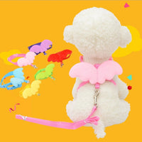 Cute Angel Pet Dog Leashes and Collars Set Puppy Leads