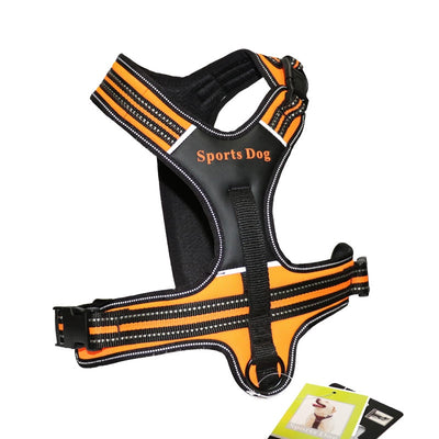 Dog Collars Leather Pet Dog Harness Pulling Training Chest Harness