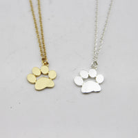 Paw Claw Dogs  Pendant Necklace Feet Footprint necklace Jewelry