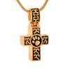 Dog Paw Engraved Cross Blessing Memorial