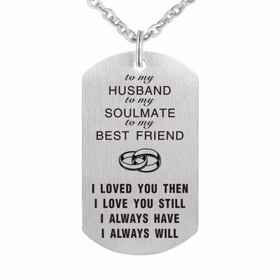 Dog Tag Laser 316L Stainless Steel Pendants Custom Military Necklaces Jewelry