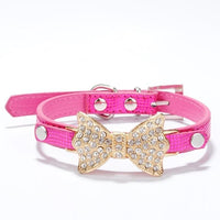 Rhinestone Dog Collars Small Dogs Bling Crystal Bow