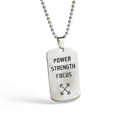 Men's Attitude Dog Tag Pendant Necklace