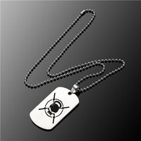 Stainless Steel Men's necklace Stainless Steel Pendant  Dog Tags