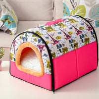Dog House Cama Para Cachorro Kennel Nest With Mat Foldable Dog Bed For Small Medium Dogs Pet