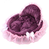 Pet Dog Puppy Princess Bows Lace Heart Elegant