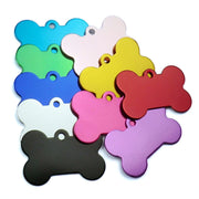 Wholesale 100Pcs Personalized Bone Dog ID Tags