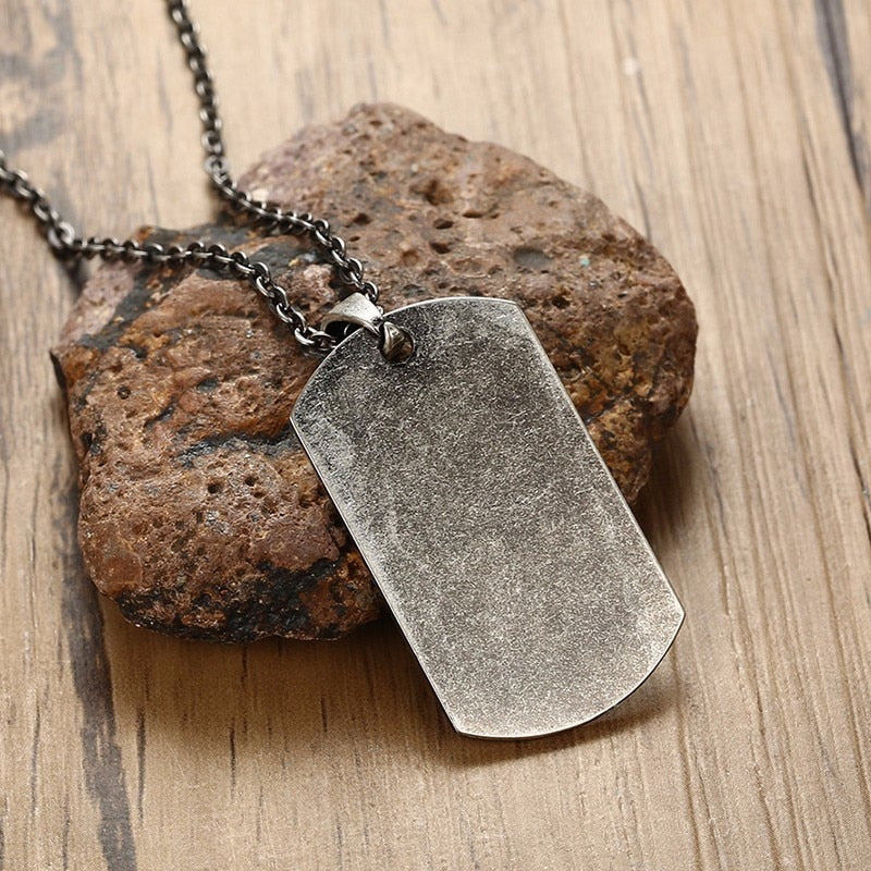 US Military Dog Tag Pendant Necklace