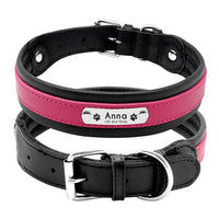 Large Dog Collar Genuine Leather Dog Collar Personalized Pet Name
